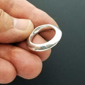 Smooth solid silver band