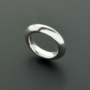 Large tall sterling silver ring