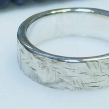 Load image into Gallery viewer, One of a kind textured fine silver band