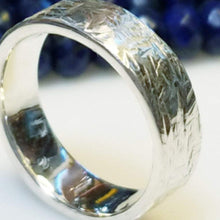 Load image into Gallery viewer, Cool hand made fine silver band