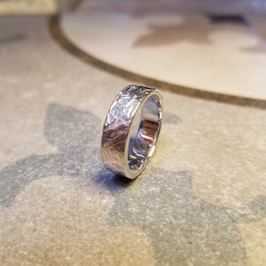 Fine silver unique hand made band