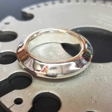 Load image into Gallery viewer, Fine silver Warrior Disk Ring is a generous and bold band with a even bigger attitude