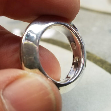 Fine silver thick ring