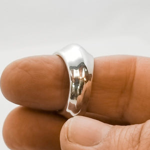 Florence Dome Ring | solid sterling silver .925 or fine silver .999  thick walls and comfortable to use