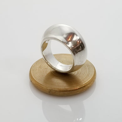 Florence dome sterling silver ring