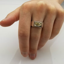 Charger l'image dans la galerie, Gold Nugget Silver Ring | a unique sterling silver combined