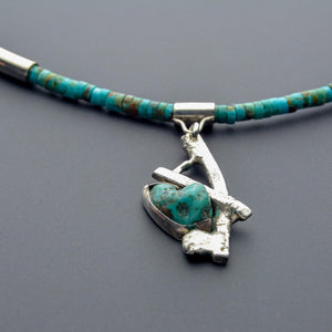 One of a kind turquoise jewelry choker