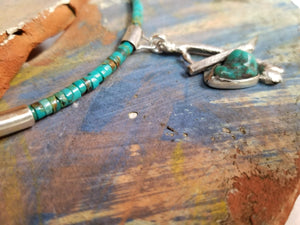 Turquoise one of a kind choker