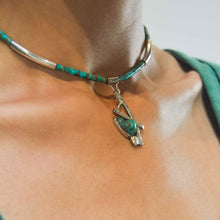 Load image into Gallery viewer, Natural organic turquoise jewelry choker