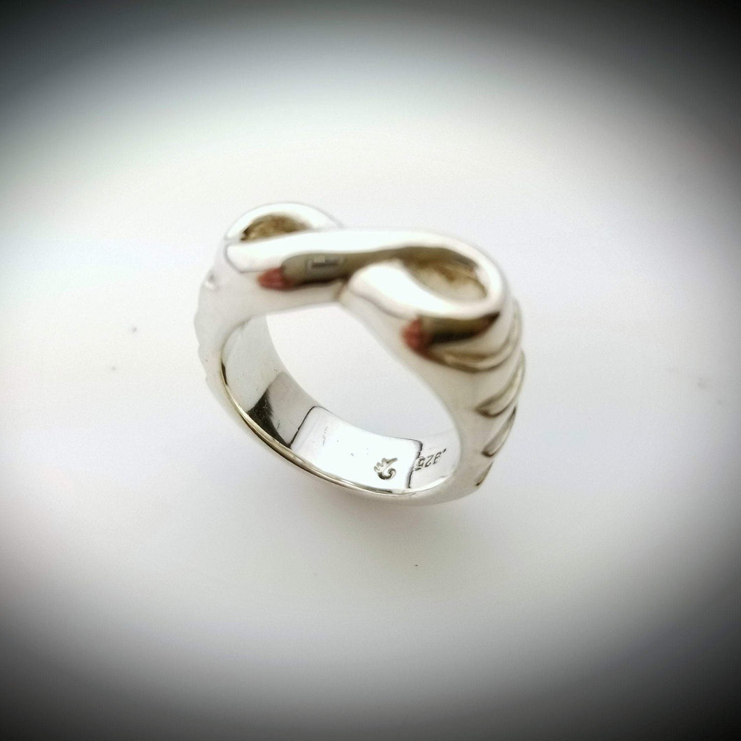 Infinity solid silver band