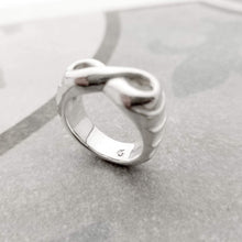 Load image into Gallery viewer, One of a kind infinity band in silver
