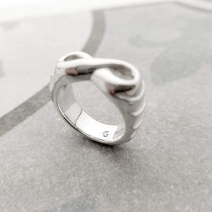 One of a kind infinity band in silver