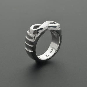 Unique infinity symbol sculpted ring
