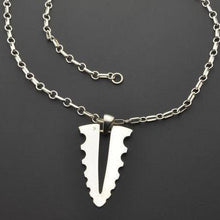 Load image into Gallery viewer, Blade silver pendant