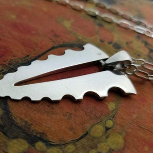 jagged silver pendant
