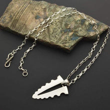 Load image into Gallery viewer, fish bone silver pendant