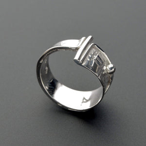 artistic silver ring