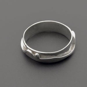 Unique hand made silver ring