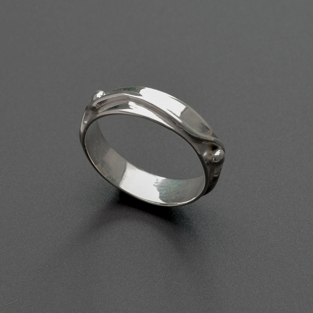 Peace sterling silver ring