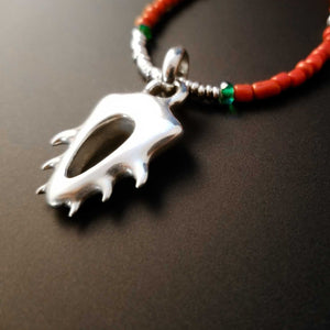 organic sterling silver sculpture