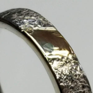 Gold inlay in sterling silver band