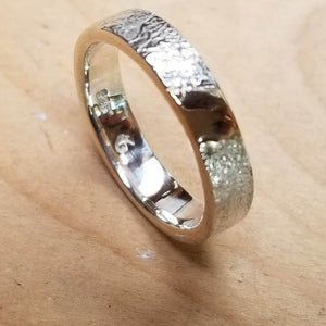 Sterling silver .925 with gold section inlay