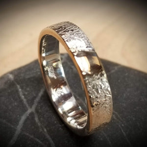 Gorgeous band with gold inlay