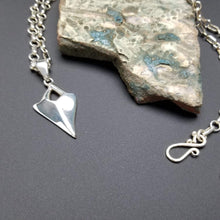 Load image into Gallery viewer, Large link sterling silver ring with shark tooth pendant
