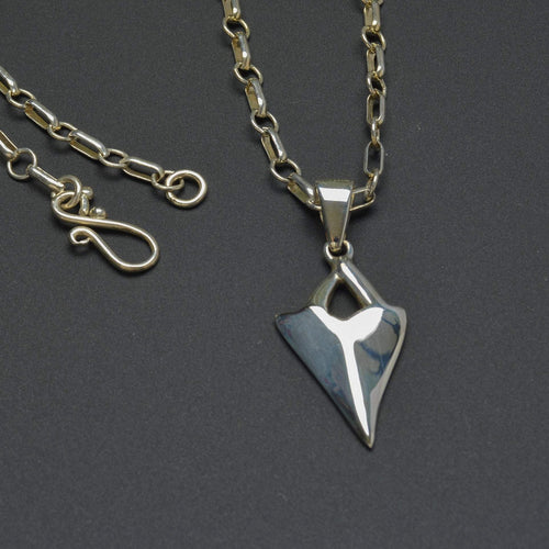 Spear sterling silver pendant