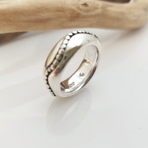 Solid sterling silver designer band