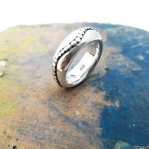 Large art sterling silver ring