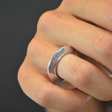 Load image into Gallery viewer, Warrior Disk Ring in sterling silver | edgy | a thick band