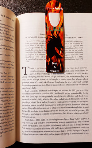 """Bookmark, aluminum """"Dragon's Fire"""", by Dragon Graphics from The Dragon Market"""