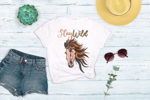 Stay Wild Horse Women's Graphic Tee