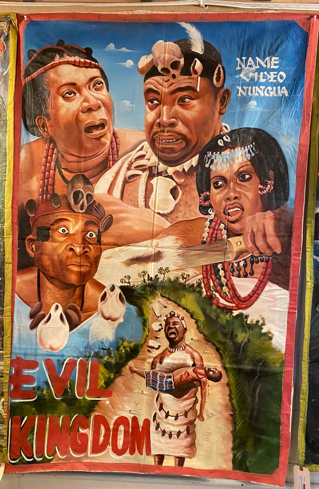 """Evil Kingdom"" Hand-Painted African Movie Poster"