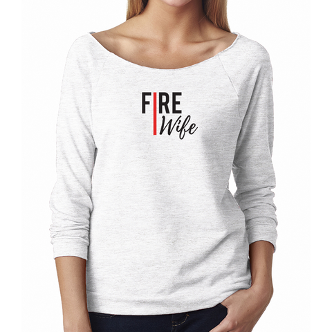 Thin Red Line Fire Wife French Terry 3/4-Sleeve Raglan