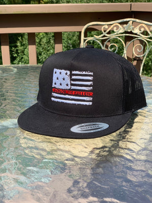 Honor the Fallen Black Trucker Mesh Snap Back Hat