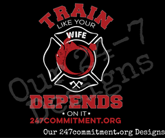 Train Like Your Wife Depends On It -  Long Sleeve Tee
