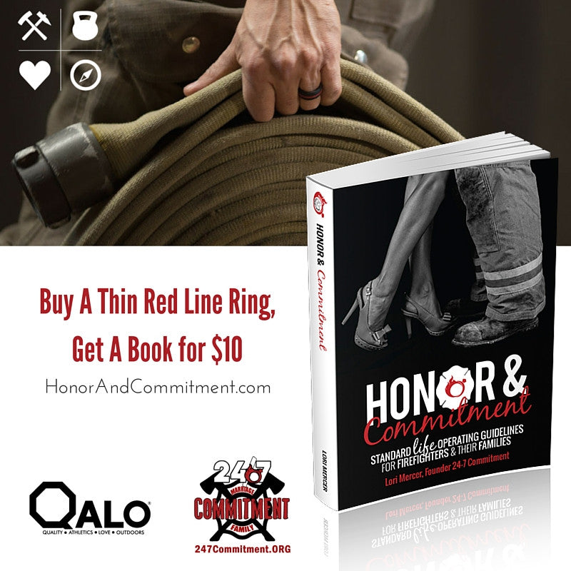 Honor & Commitment Book Plus a QALO Thin Red Line Ring