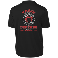 Train Like Your Wife Depends On It -  Wicking Tee