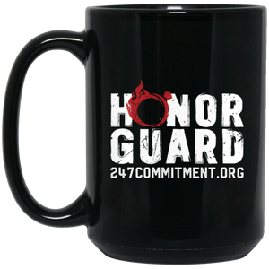 Honor Guard 15 oz. Black Mug