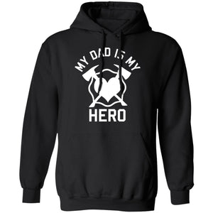 Dad is my Hero Pullover Hoodie by Gildan