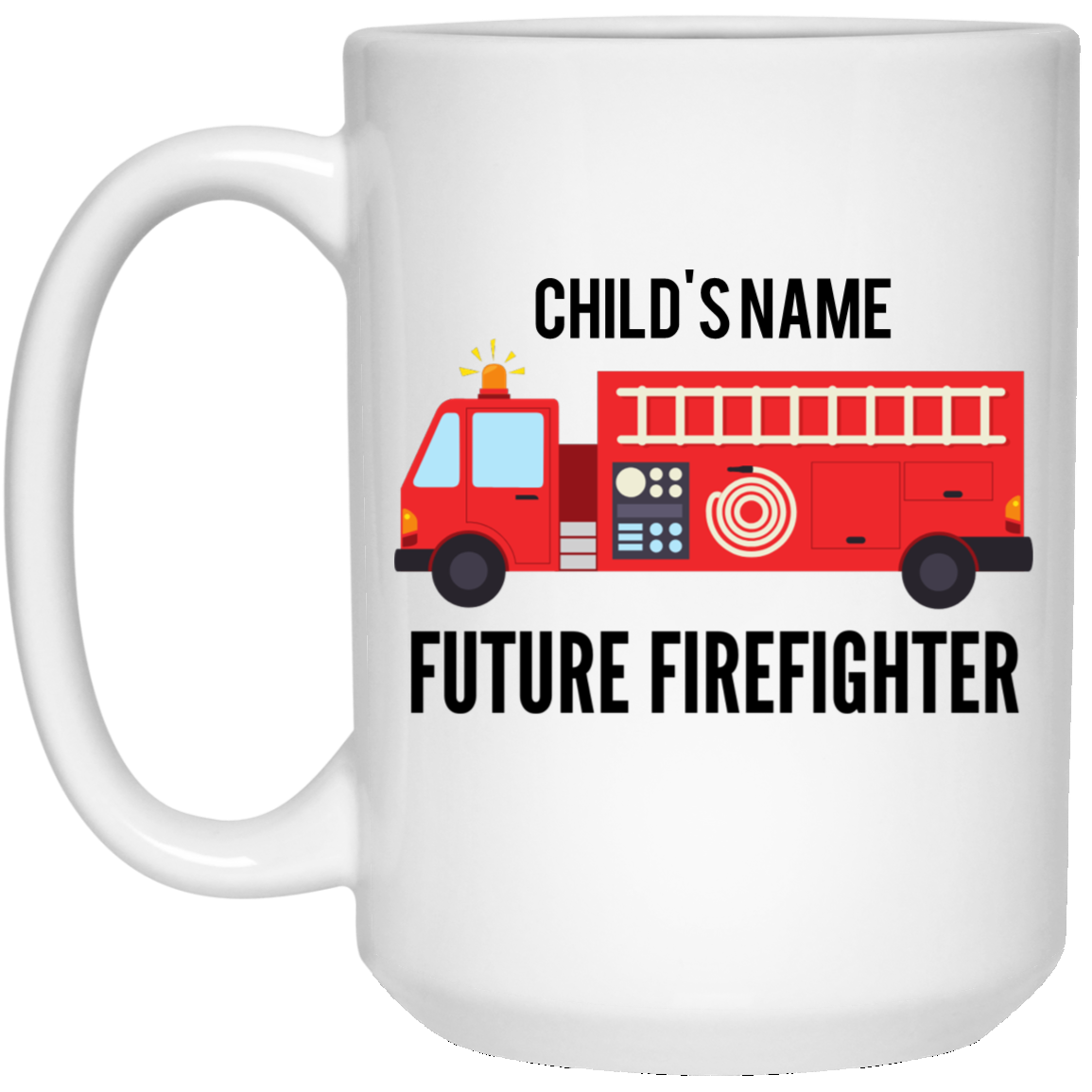 Personalized Future Firefighter 15 oz. White Mug