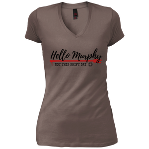 Hello Murphy District Junior's Vintage Wash V-Neck T-Shirt