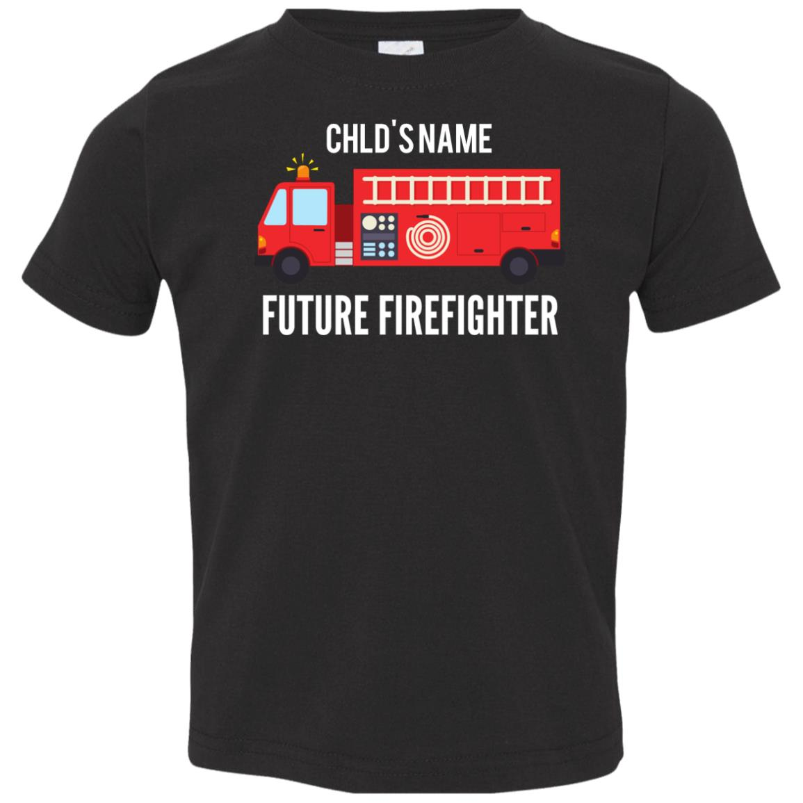 Personalized Future Firefighter Toddler Jersey T-Shirt by Rabbit Skins