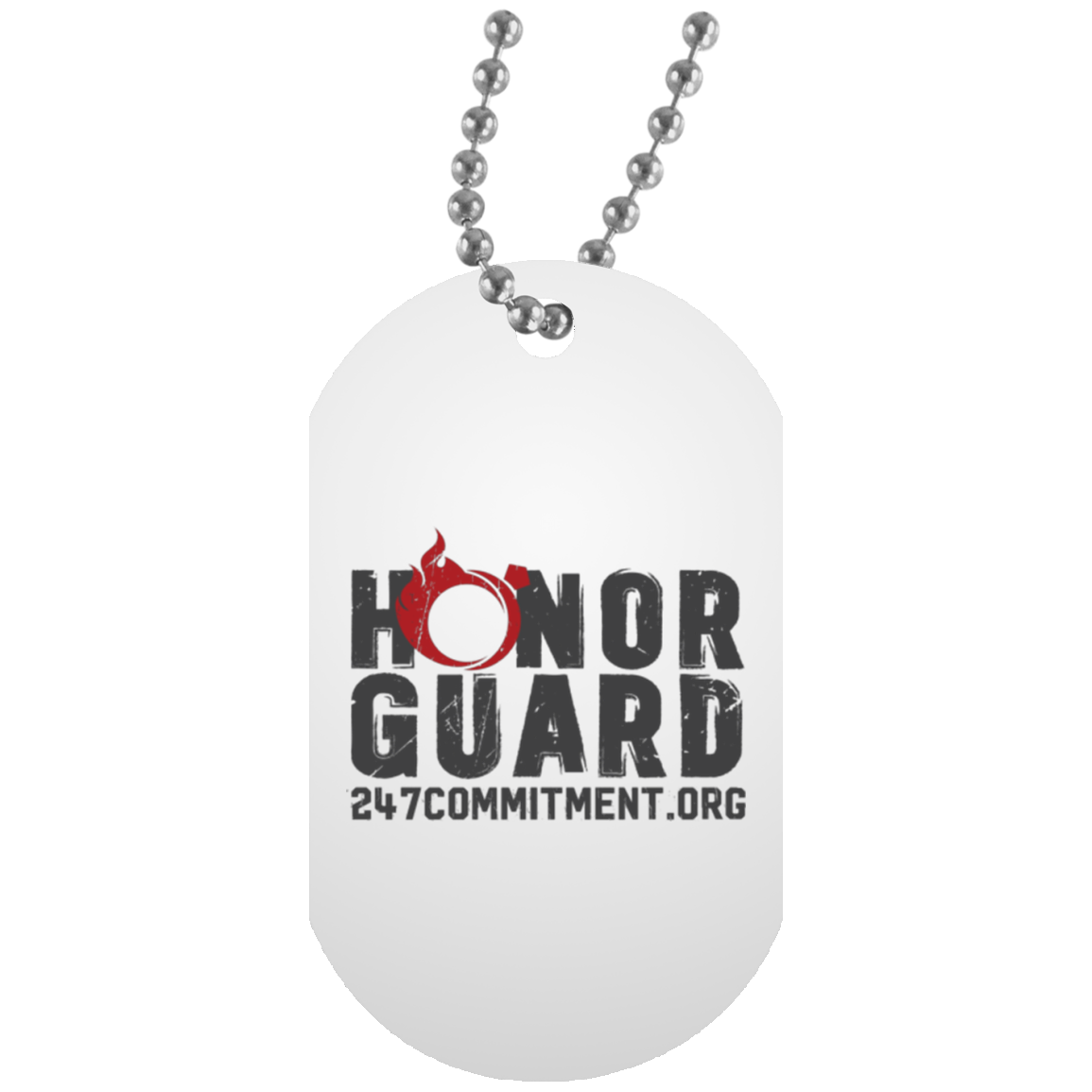 HONOR GUARD White Dog Tag