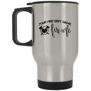 Personalized Fire Wife Silver Stainless Travel Mug