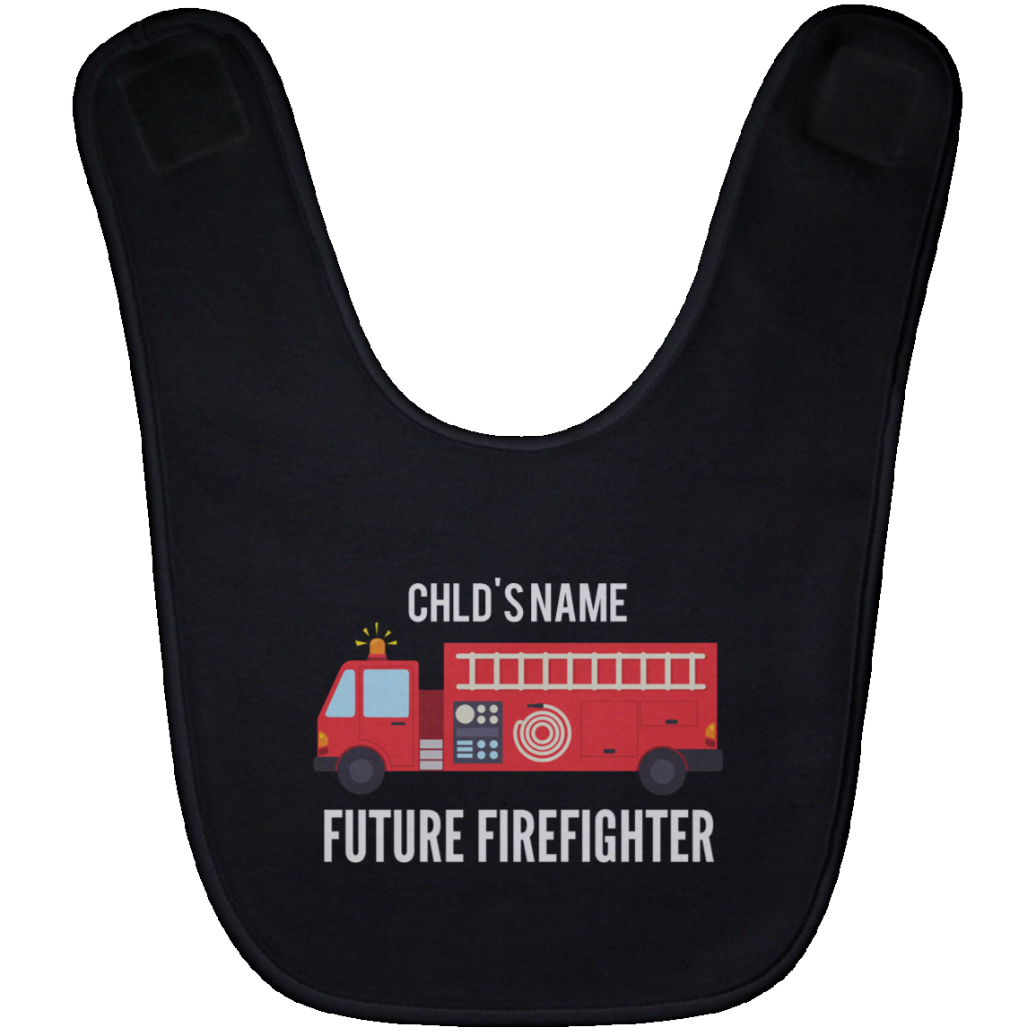 Personalized Future Firefighter Baby Bib