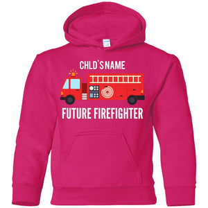Personalized Future Firefighter Youth Pullover Hoodie by Gildan