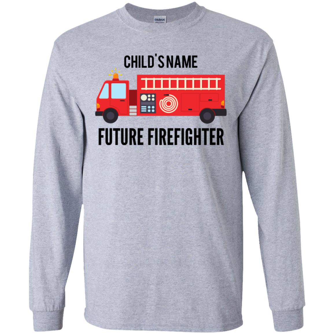 Personalized Future Firefighter Youth LS T-Shirt